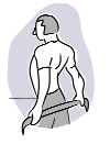 Back Shoulder Stretch Reach one arm across chest at shoulder level (sitting or standing). Use opposite arm to provide gentle pressure at elbow. Turn head to look over shoulder being stretched.