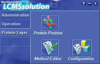 Protein Analysis features the same user-friendly interface as LCMSsolution.