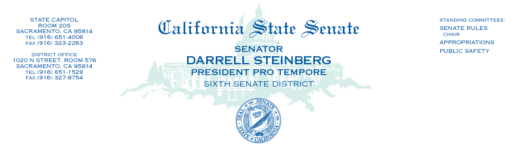 Appendix: A letter to Prime Minister David Cameron from President pro Tempore of the California State Senate, Darrell Steinberg October 31, 2012 Mr.