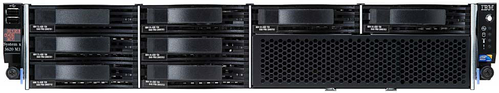System x3620 M3 (withdrawn) Model 1 Processor Second CPU RAID controller Disk bays Disks Network Optical Power Announced / Withdrawn 7376-A2x 1x Xeon E5603 1.