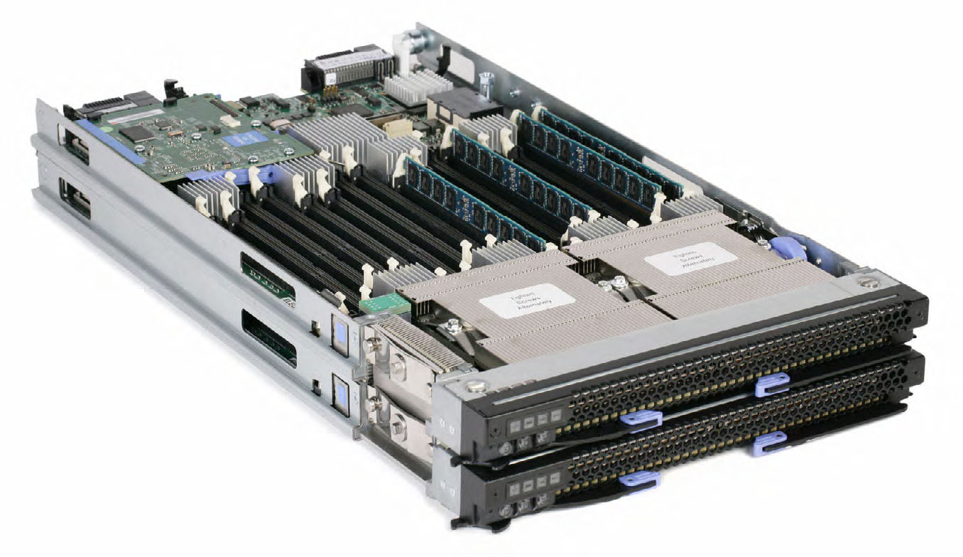 BladeCenter HX5 (7873) base models with optional MAX5 (withdrawn) Model 1 Processor (2 maximum) MAX5 Scale to two nodes Standard memory Networking a I/O slots Storage Drive bays Announced / Withdrawn