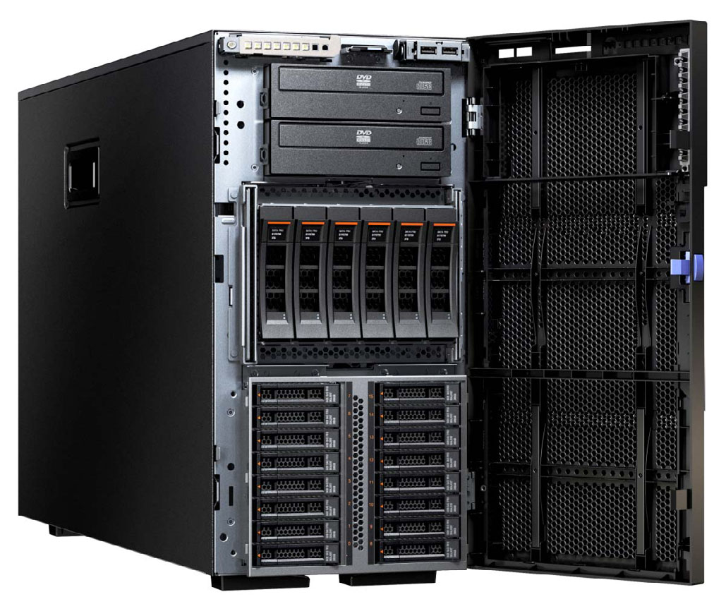 Lenovo System x3500 M5 Model 1 Design Intel Xeon Processor Second CPU RAID controller Disk bays Disks GbE Slots Optical Power Announced 5464-A2x Tower 1x E5-2603 v3 6C 1.
