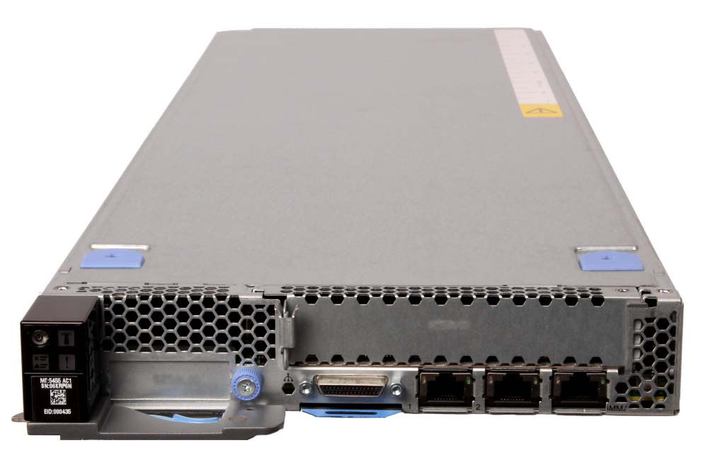 NeXtScale nx360 M4 Model 1 Processor Second CPU & speed Disk adapter Disk bays Disks Network Optical Power Announced 5455-22x 2x Intel Xeon E5-2620 v2 6C 2.