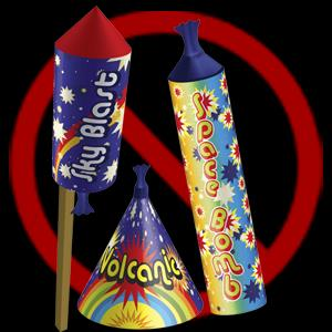 Fireworks Fireworks are considered 'dangerous goods' and are not