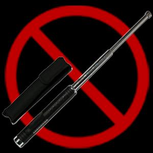 Extendable batons You aren't allowed to bring extendable batons into Australia.