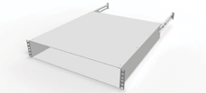 "Suitable for all 19"" extrusions. Suitable for CISCO Catalyst 6506(-E), MDS 9509 Director. / Finish Sheet steel, 2.0 mm, zinc passivated. 2 x chassis runners. In pairs."