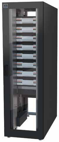 "Knürr PowerTrans2 Knürr PowerTrans2 19"" Power Distribution Rack Elementary and Monitored type Feed of 2 separate 3-phase 400V mains, L1, L2, L3, N, PE. Each with a 250 A circuit breaker in the input."
