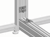 Can be integrated in the Knürr DCM rack. Use only as required. 2 x anti-tilt restrainers. Note Only use on racks without partition walls.