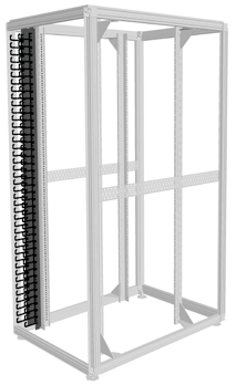 Also available optionally as cold/warm partitioning. Cutouts for cabling from front to back.