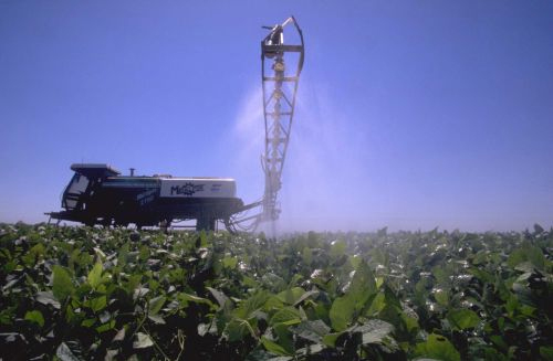 LABEL IT NOW: WHAT YOU NEED TO KNOW ABOUT GENETICALLY ENGINEERED FOODS Greenpeace/Gustavo Gilabert Large herbicide application equipment can spray Roundup on several hundred acres of GE soybeans in a