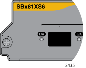 SwitchBlade x8112 Chassis Switch and AT-SBx81CFC960 Card Installation Guide AT-SBx81XS6 SFP+ Line Card The AT-SBx81XS6 Line Card, shown in Figure 24,