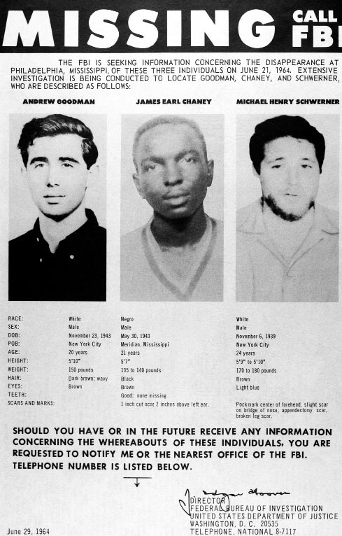 Civil Rights Workers: Death in Mississippi The murders of civil rights workers James Chaney, Andrew Goodman, and Michael Schwerner by a conspiracy of police and Ku Klux Klansmen in Mississippi on