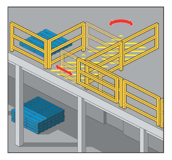 Barriers Barriers (or edge protection) to prevent a person falling over edges and into holes should be provided on