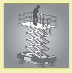 Figure 10: An example of a scissor-lift elevating work platform.