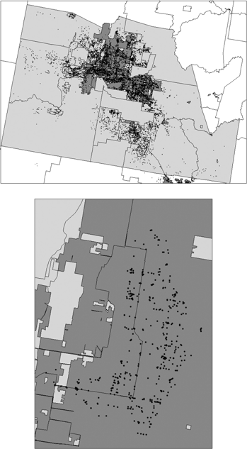 LAND USE REGULATION AND WELFARE 1373 FIGURE 3. Top: Distribution of parcels in metropolitan Phoenix.