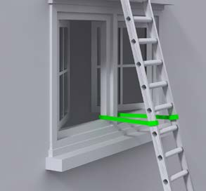 What are the options for securing ladders?