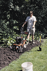 Incorporate the compost to a depth of 6-8 inches by hand or mechanically using a rototiller or other appropriate equipment until the compost is uniformly mixed.