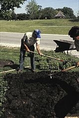 Step 4: Step 5: Step 6: Establish a smooth planting bed by raking or dragging the soil surface. Photos: DK Recycling Systems, Inc.