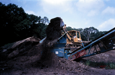 Aside from the compost and soil, peat, bark, sand, and other materials may be used as topsoil components.