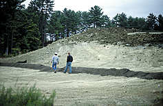 Step 4: Step 5: Step 6: To prevent rill formation, apply compost layer approximately 3 feet over the top of the slope or mesh it into existing vegetation.