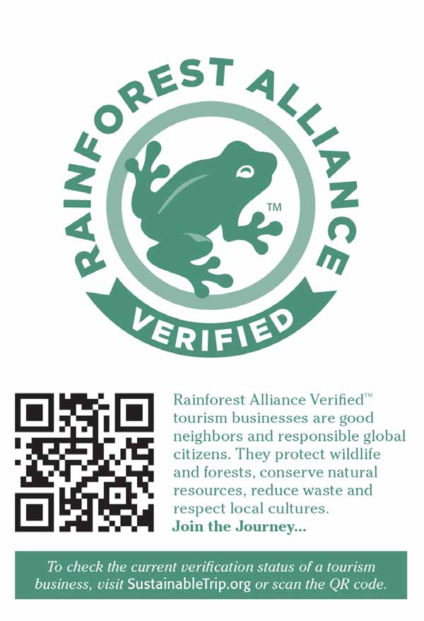 Where: On products, and marketing materials that promote products, from Rainforest Alliance Certified forests or farms.