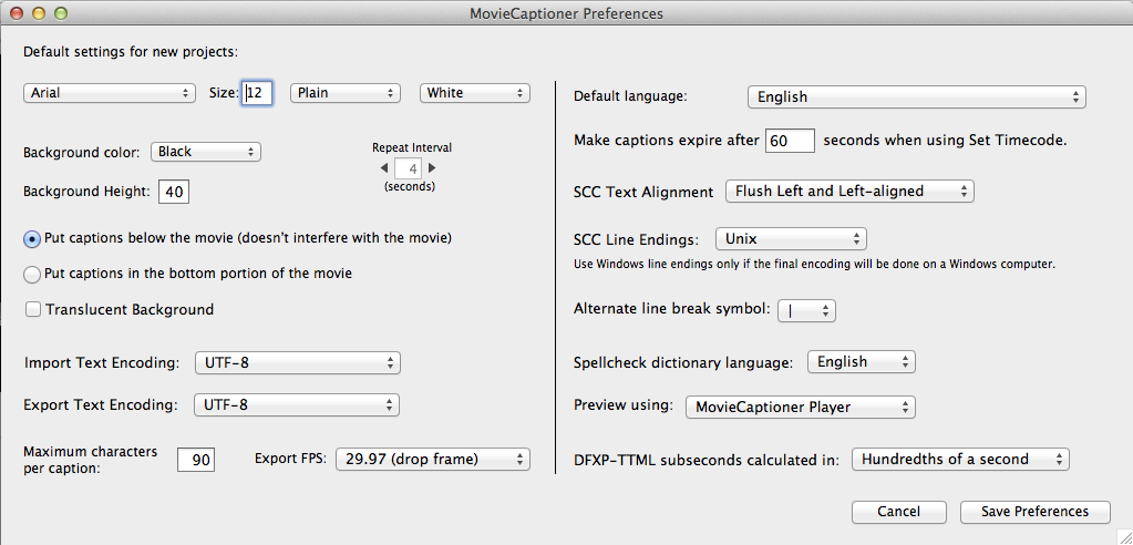 Troubleshooting The Spellcheck Dictionary MUST remain in the same folder as the MovieCaptioner application file or it will ask you where the dictionary is each time you open MovieCaptioner.