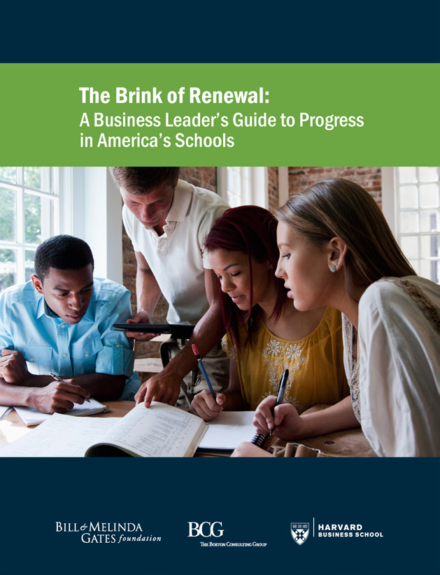 competitiveness has been working with the Bill and Melinda Gates Foundation and The Boston Consulting Group (BCG) to ask, How can business leaders partner better with educators to support America s