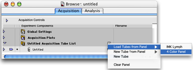 7 Click Add above the Tubes list to add another tube. 8 Enter a name for the tube and define parameter labels. 9 Repeat steps 7 and 8 for the remaining tubes in the panel; when finished, click OK.