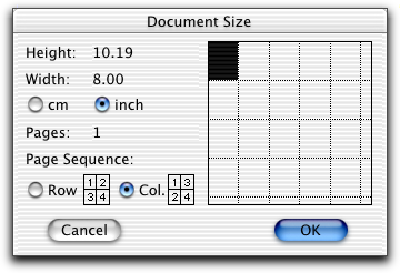 Click rectangles to add additional pages (each rectangle represents one page). Tip Change page units or the print sequence using options in the dialog. 4 Create an Analysis dot plot.
