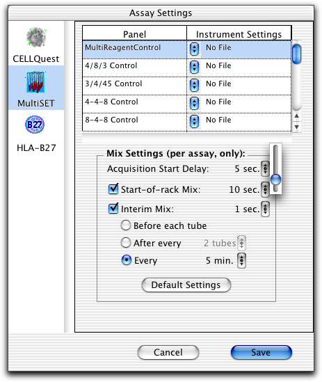 6 Under Automatic Saving Options, choose the Assay Type. 7 Click the checkbox for each file you want to save; click Location to change the default name or storage location.