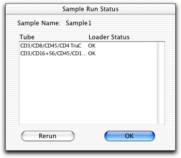Worklist status icons show which samples have been run.