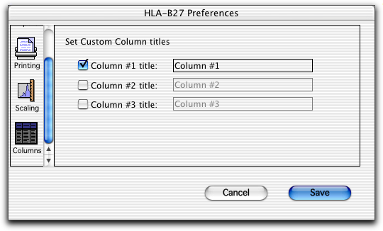 Use Scaling to set default scaling for the histogram in the Lab Report.