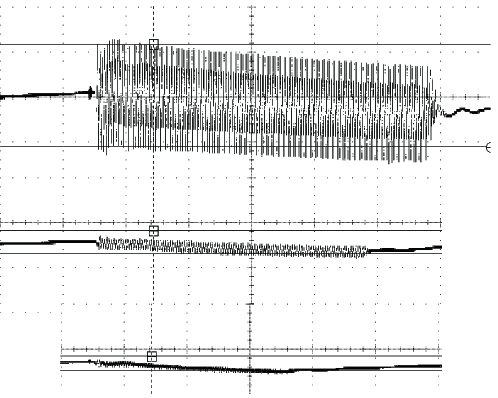Application Note Δ460mV 2-LAYER BOARD NO POWER PLANE 24MIL SPACING BETWEEN POWER AND GROUND Δ104mV 4MIL SPACING BETWEEN POWER AND GROUND Δ64mV Figure 12.