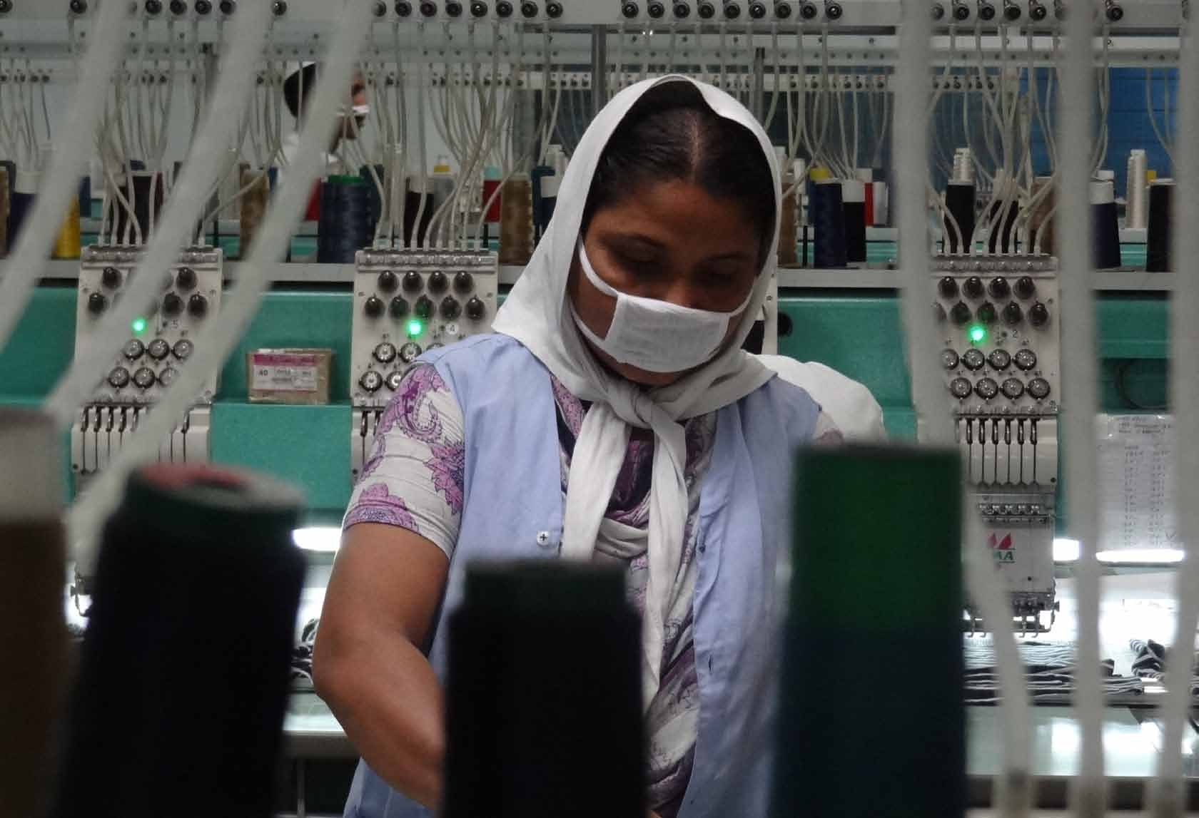 BISHAWJIT DAS Access to capital has allowed the largest factory groups to upgrade to higher value-added production such as machine stitched embroidery.