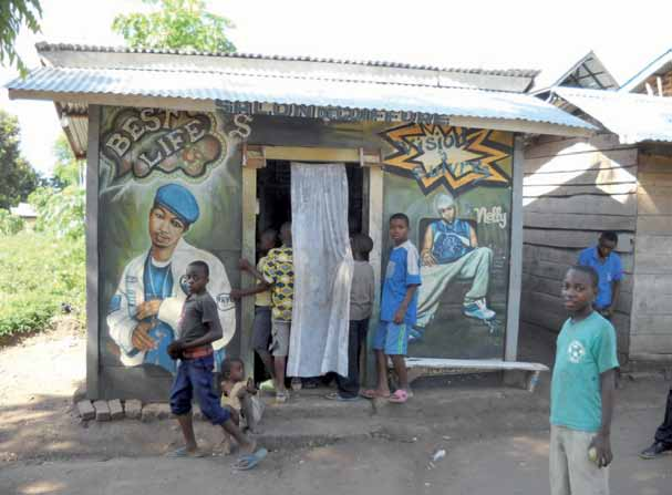 War is not yet over 41 Barber shop in Kiwanja centre, Rutshuru territory In a popular eating place in Kiwanja centre, a poster of Alicia Keys, one of the top-selling American musicians of her time,