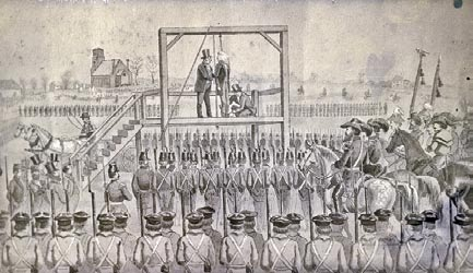 Library of Congress The hanging of John Brown on December 2, 1859. cession from the Union as the best way of putting slavery on the road to extinction.