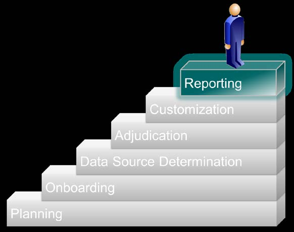 3.7 Process Area 6: Reporting The following sections provide an overview of the reporting process area, outline the roles and responsibilities of the parties, and describe the key activities involved.