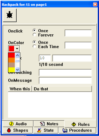Paint an area of colour onto your page, then right click it and select Edit. Type your instructions in here!