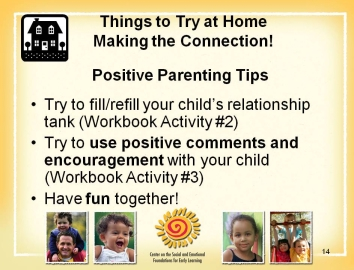 13 14 Slide 13: One fun way to teach rules is to use photographs. You can take a picture of what you would expect your child to do and then model and teach your child how to do the expected rule.