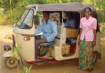 BOX 8 A Household Making Use of the Road and with the Potential for Moving Out of Poverty Kurunegala, Sri Lanka Mr.