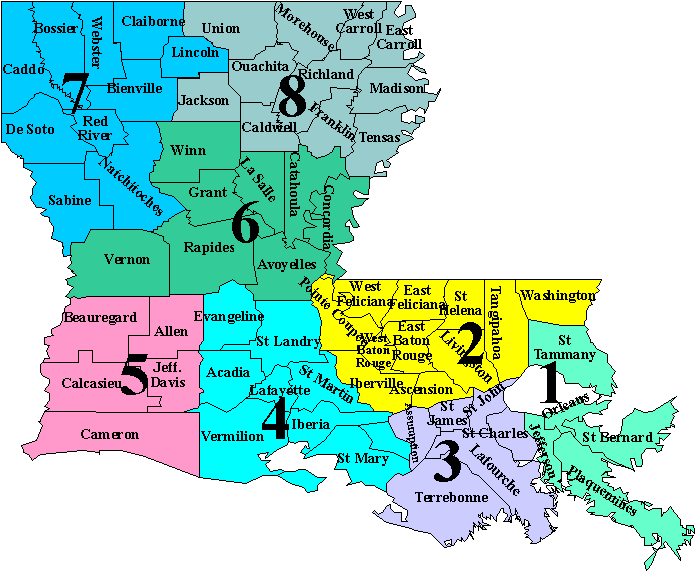 STATE PLANNING REGIONS Region 1 Region 2 Region 3 Region 4 St. Tammany Washington St. John Evangeline Jefferson Tangipahoa St. James St. Landry Plaquemine Ascension Assumption Acadia St.
