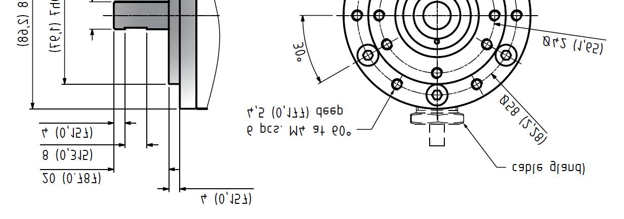 Mechanical Dimensions Tolerances according to ISO 2768 f Encoder Length