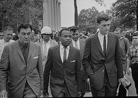 Library of Congress African American student James Meredith escorted by U.S.