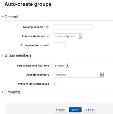 Figure 4-7 Aut creating grups Allcate Members drpdwn allws yu t allcate grup members in different ways.