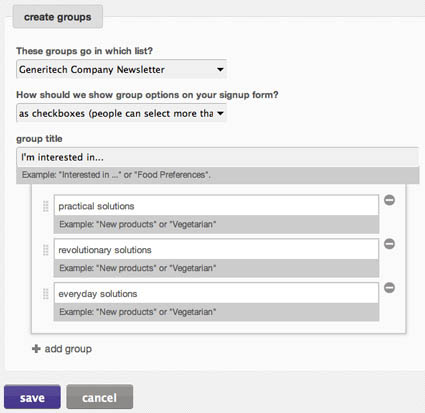 Sending to Groups When you re ready to send a campaign to a segment of your list, click the big CreateCampaign button and choose RegularOl Campaign.