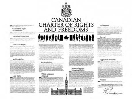 How Canadians Govern Themselves Photo: Department of Canadian Heritage The Charter guarantees four fundamental freedoms and six basic rights. those covered by the first two formulas).