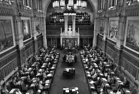 How Canadians Govern Themselves Photo: Library of Parliament/Marc Fowler The Senate in session. In theory these powers are formidable.
