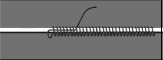 The thumb of the left hand can be used or even a pencil can be placed under the loop to maintain the tension whilst the tail end is Cutting off the tail end: When the tail end has been pulled