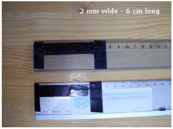 10. How to make your own fletchings: Materials needed: - 2 rulers or similar, - scissors, -
