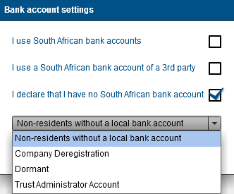 message: 21 BANK ACCOUNT DETAILS You will be able to add new, edit or maintain bank details from the tax product menu or from the My Bank accounts menu in the WRAV01.